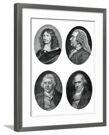 Four Industrial Reformers: Colbert, Turgot, Arkwright and Watt--Framed Giclee Print