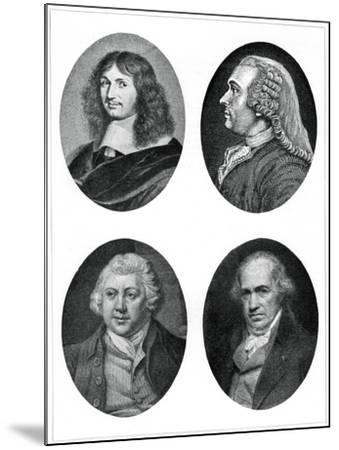 Four Industrial Reformers: Colbert, Turgot, Arkwright and Watt--Mounted Giclee Print