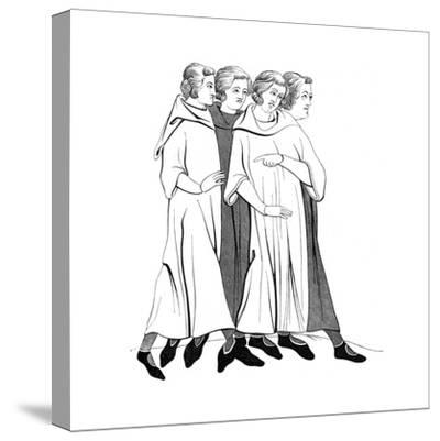 Costumes of the Bourgeoisie, 13th Century--Stretched Canvas Print