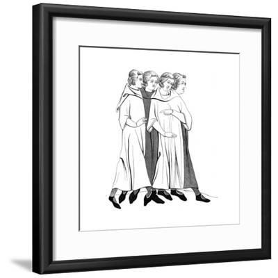 Costumes of the Bourgeoisie, 13th Century--Framed Giclee Print