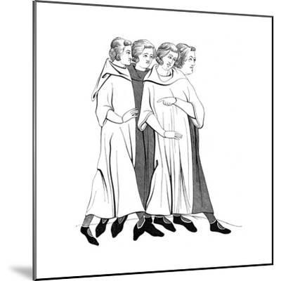 Costumes of the Bourgeoisie, 13th Century--Mounted Giclee Print