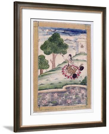 Gujari Ragini, Ragamala Album, School of Rajasthan, 19th Century--Framed Giclee Print