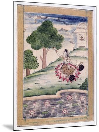 Gujari Ragini, Ragamala Album, School of Rajasthan, 19th Century--Mounted Giclee Print