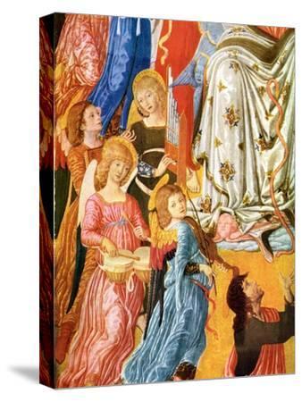 Portative Organ and Kettledrums, C1474-Matteo di Giovanni-Stretched Canvas Print