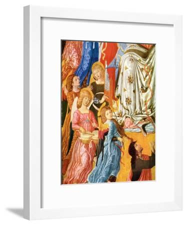 Portative Organ and Kettledrums, C1474-Matteo di Giovanni-Framed Giclee Print