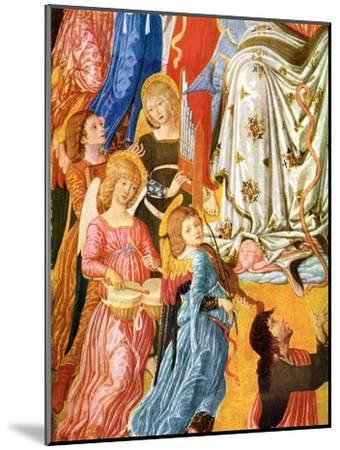 Portative Organ and Kettledrums, C1474-Matteo di Giovanni-Mounted Giclee Print