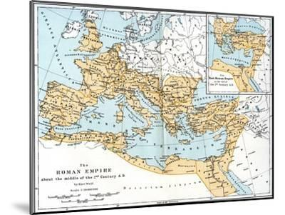 Map of the Roman Empire, 2nd Century Ad--Mounted Giclee Print