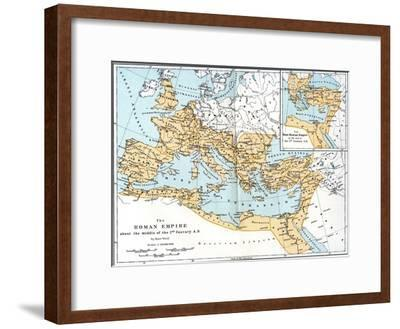 Map of the Roman Empire, 2nd Century Ad--Framed Giclee Print