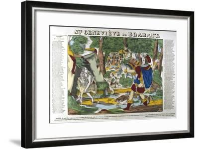 St Genevieve of Brabant in the Forest, 19th Century--Framed Giclee Print