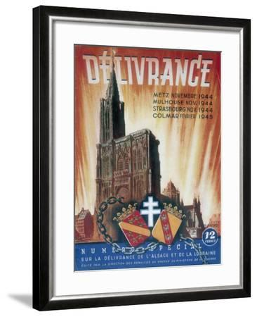 World War 2: Deliverance!, 1945--Framed Giclee Print