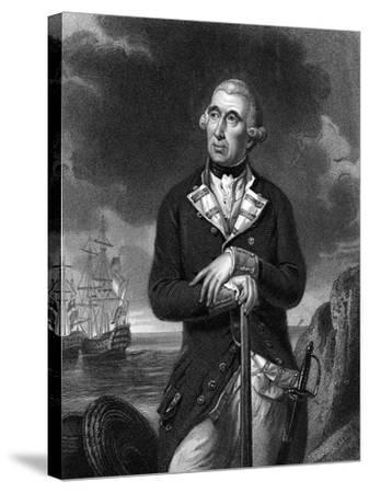 Richard Kempenfelt, English Naval Officer of Swedish Descent--Stretched Canvas Print