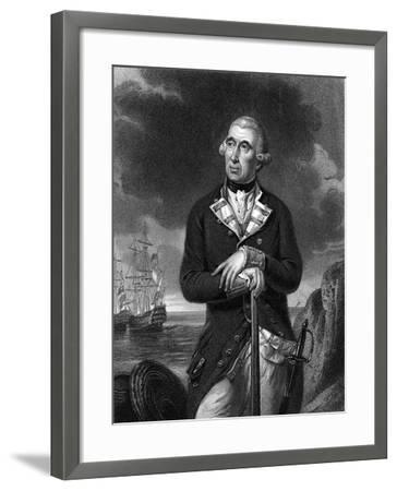 Richard Kempenfelt, English Naval Officer of Swedish Descent--Framed Giclee Print