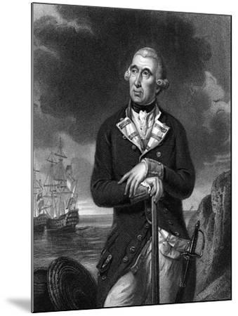Richard Kempenfelt, English Naval Officer of Swedish Descent--Mounted Giclee Print