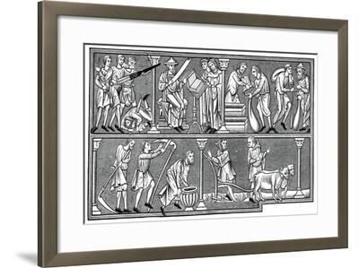 Scenes of Medieval Life, 13th Century--Framed Giclee Print