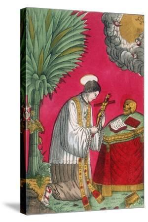 St Louis of Gonzaga, Italian Saint and Protector of Young Students, 19th Century--Stretched Canvas Print