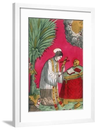 St Louis of Gonzaga, Italian Saint and Protector of Young Students, 19th Century--Framed Giclee Print
