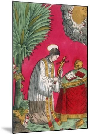 St Louis of Gonzaga, Italian Saint and Protector of Young Students, 19th Century--Mounted Giclee Print