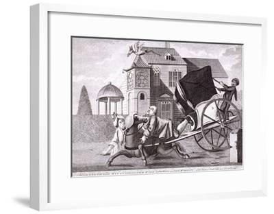 Visit to Mr Deputy - at His Modern Built Villas Near Clapham, London, C1750--Framed Giclee Print