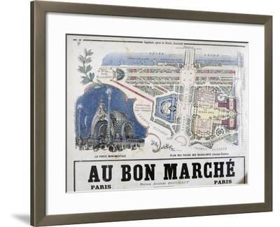 Plan of the Porte Monumentale and Palais Des Beaux-Arts, 1900--Framed Giclee Print