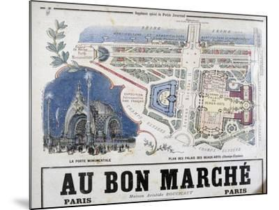 Plan of the Porte Monumentale and Palais Des Beaux-Arts, 1900--Mounted Giclee Print