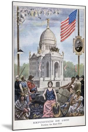 The American Pavilion at the Universal Exhibition of 1900, Paris, 1900--Mounted Giclee Print
