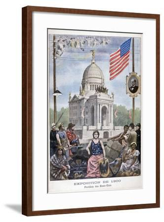 The American Pavilion at the Universal Exhibition of 1900, Paris, 1900--Framed Giclee Print