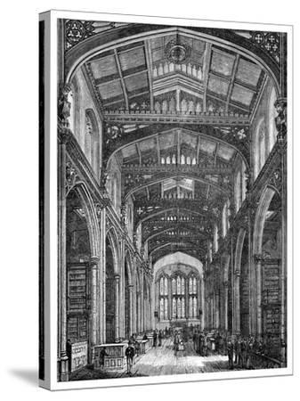 Interior of the Library, Guildhall, City of London, 1886--Stretched Canvas Print