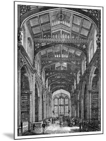 Interior of the Library, Guildhall, City of London, 1886--Mounted Giclee Print