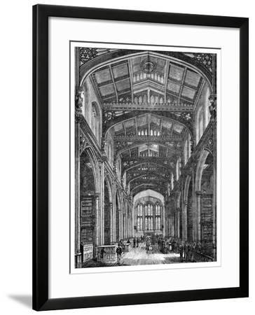 Interior of the Library, Guildhall, City of London, 1886--Framed Giclee Print