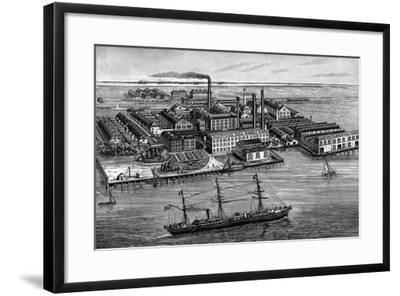 India Rubber, Gutta Percha and Telegraph Works Company Factory, Silvertown, London, 1887--Framed Giclee Print