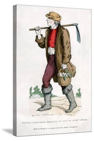 French Peasant Farm Labourer, 16th Century (1882-188)--Stretched Canvas Print