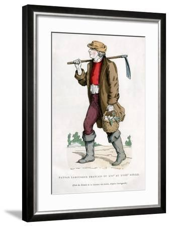 French Peasant Farm Labourer, 16th Century (1882-188)--Framed Giclee Print