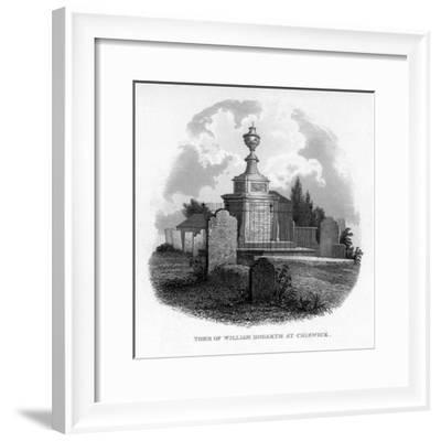 The Tomb of William Hogarth at Chiswick, 1840--Framed Giclee Print