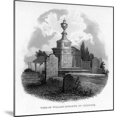 The Tomb of William Hogarth at Chiswick, 1840--Mounted Giclee Print