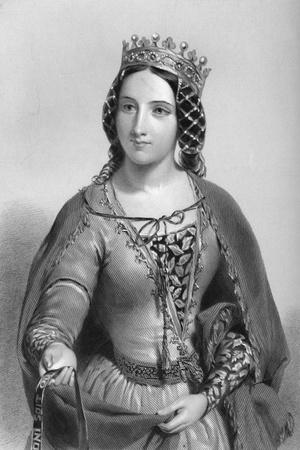 Anne of Warwick (1456-148), Queen Consort of King Richard Iii, 1851--Stretched Canvas Print