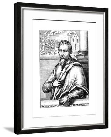 Michael Servetus, Spanish Theologian and Phycisian, (1511-155) 1727--Framed Giclee Print