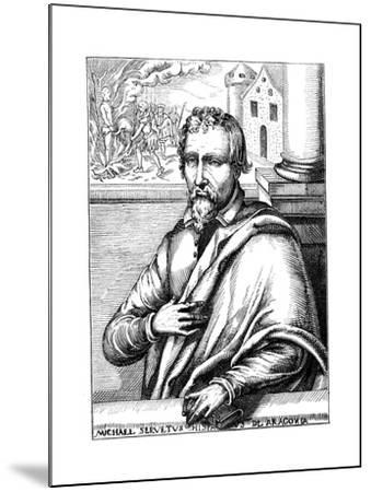 Michael Servetus, Spanish Theologian and Phycisian, (1511-155) 1727--Mounted Giclee Print