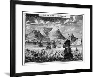 The Arrival of the Fleet in the Time of Simon Van Der Stel, 1931--Framed Giclee Print