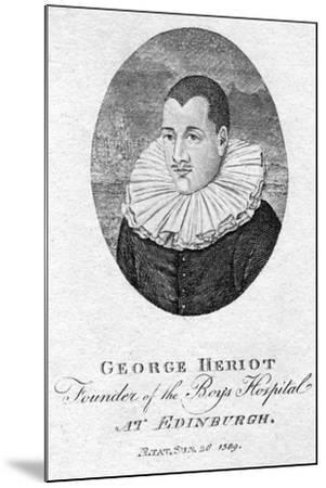 George Heriot (1563-162), Scottish Goldsmith and Philanthropist, 1791--Mounted Giclee Print