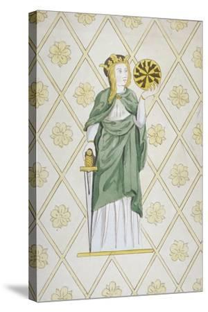 St Catherine, Stained Glass, Church of St Leonard, Heston, Middlesex, 1820--Stretched Canvas Print