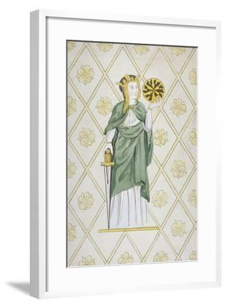 St Catherine, Stained Glass, Church of St Leonard, Heston, Middlesex, 1820--Framed Giclee Print