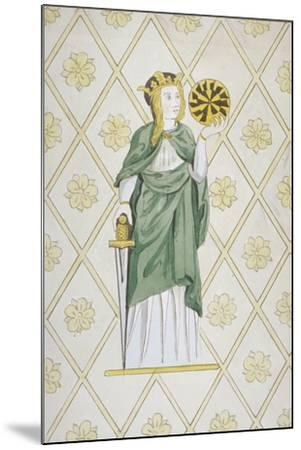 St Catherine, Stained Glass, Church of St Leonard, Heston, Middlesex, 1820--Mounted Giclee Print