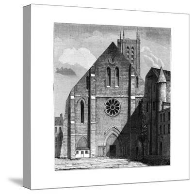 Façade of the Ancient Church of the Abbey of Sainte-Geneviève, Paris, France ,1849--Stretched Canvas Print