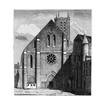 Façade of the Ancient Church of the Abbey of Sainte-Geneviève, Paris, France ,1849--Giclee Print