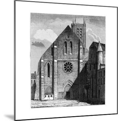 Façade of the Ancient Church of the Abbey of Sainte-Geneviève, Paris, France ,1849--Mounted Giclee Print