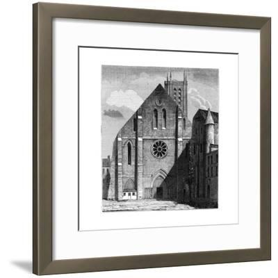 Façade of the Ancient Church of the Abbey of Sainte-Geneviève, Paris, France ,1849--Framed Giclee Print