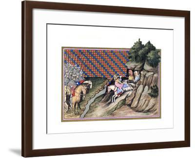 Conference of the Earl of Gloucester and an Irish Chief, Richard Ii's Campagne in Ireland, 1399--Framed Giclee Print