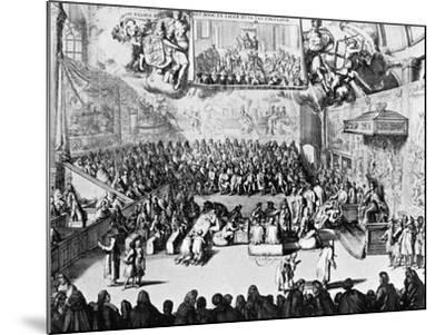 Opening of Parliament by Queen Anne, Westminster, London, 18th Century--Mounted Giclee Print