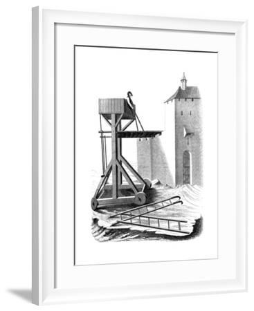 A Siege Assault Platform, 15th Century--Framed Giclee Print