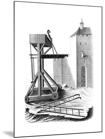 A Siege Assault Platform, 15th Century--Mounted Giclee Print